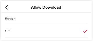 Cara Blok Video TikTok Supaya tidak bisa di download Pengguna lain