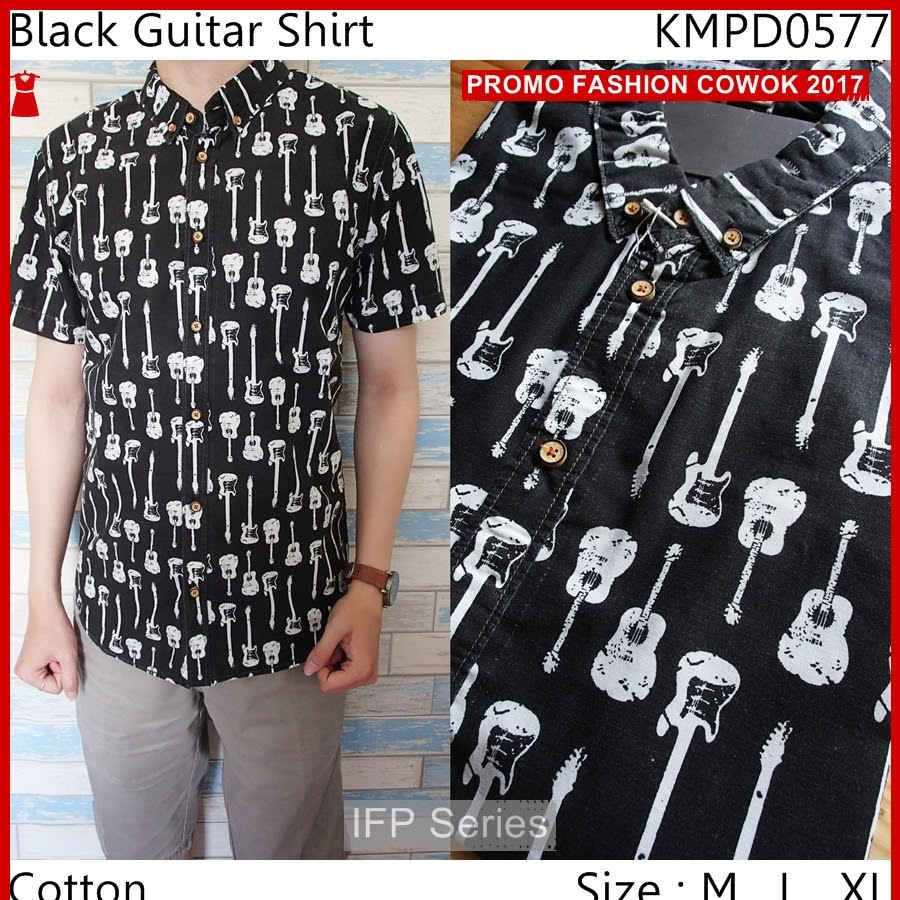 BIMFGP044 Shirt Kemeja Lengan Pendek Pria PROMO