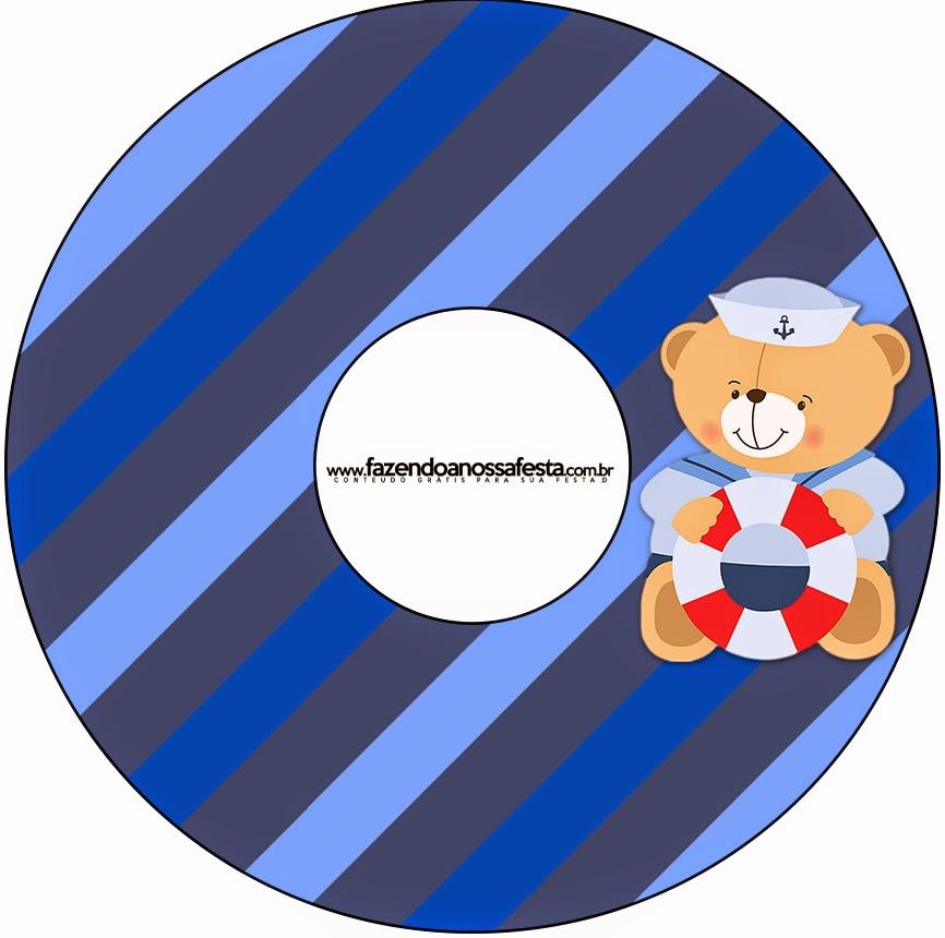 Etiquetas de Osito Marinero CD's.