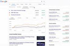 Google agrega más información financiera en su buscador