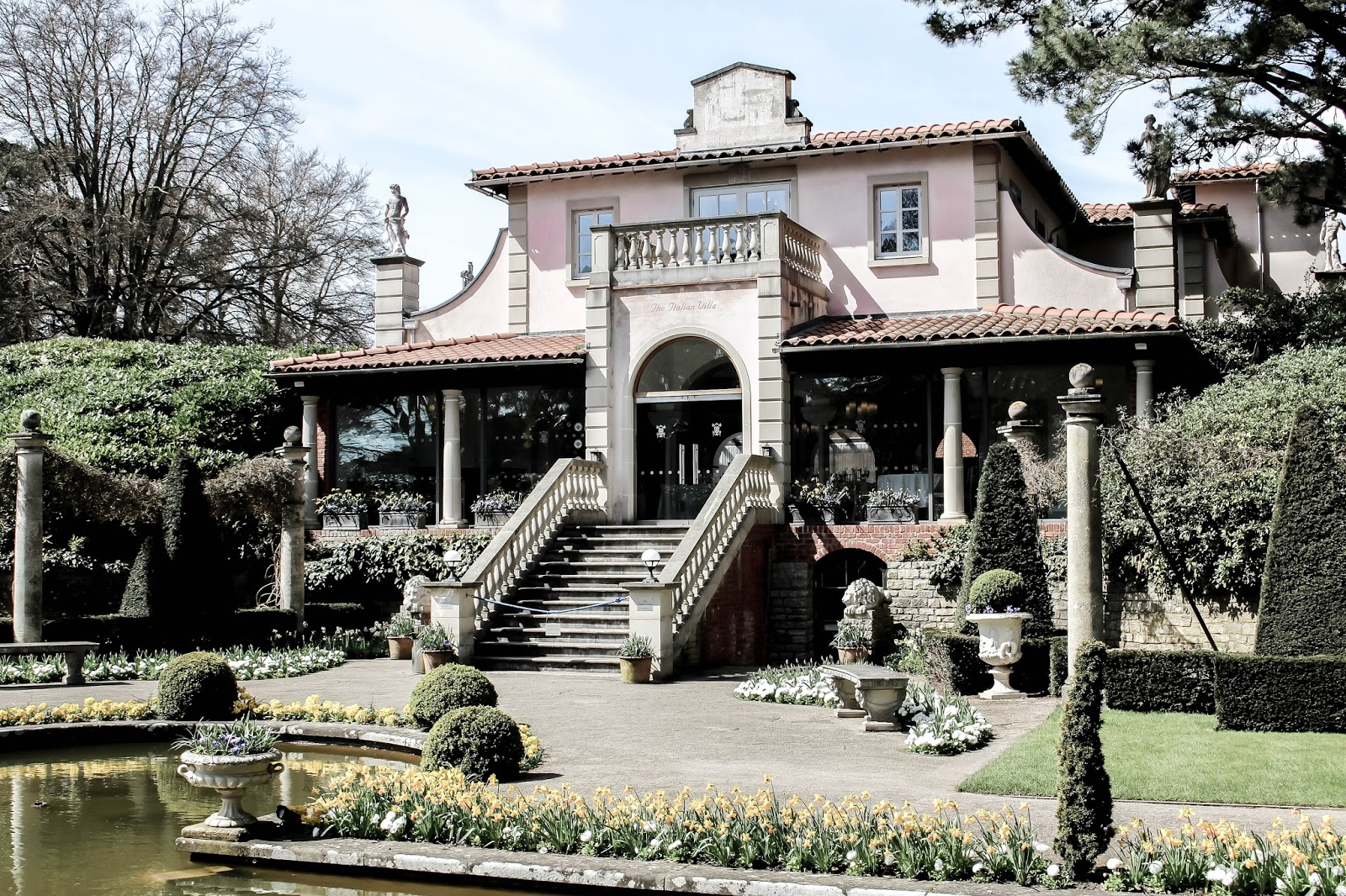 Compton Acres Pink Italianate Villa in Summer