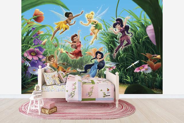 Tapetti Lastenhuoneeseen Disney Helinä-keiju Valokuvatapetti Lapsia tyttö huoneen tapetti lasten tapetti lastenhuone tapetti