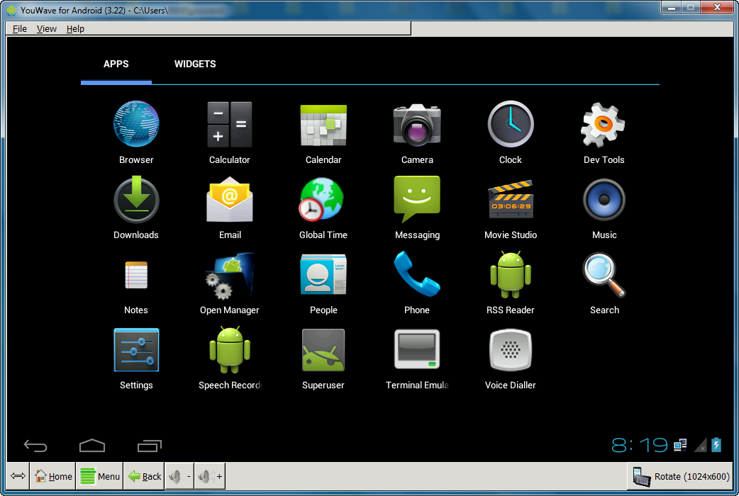 Download YouWave Android Home