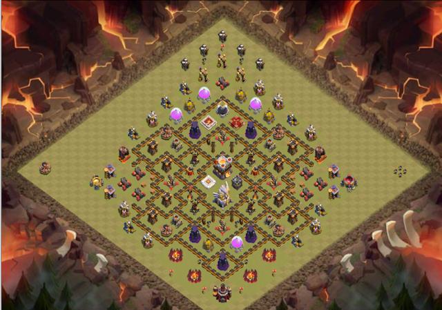 Base WAR TH 11 Terkuat di Game COC yang susah di ratakan oleh lawan