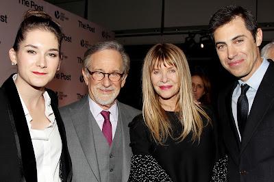 Liz Hannah ,Steven Spielberg , Kate Capshaw and Josh Singer