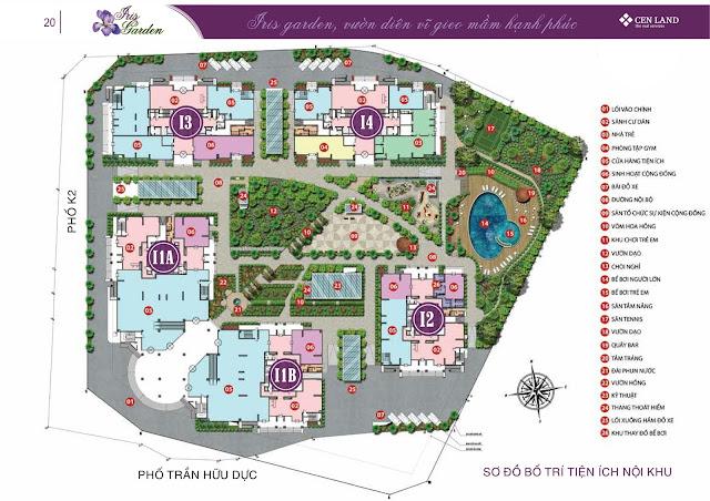 Quy mô phân khu dự án Iris Garden Mỹ Đình
