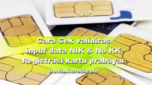 Cara Cek Berhasil tidaknya Registrasi Ulang kartu prabayar