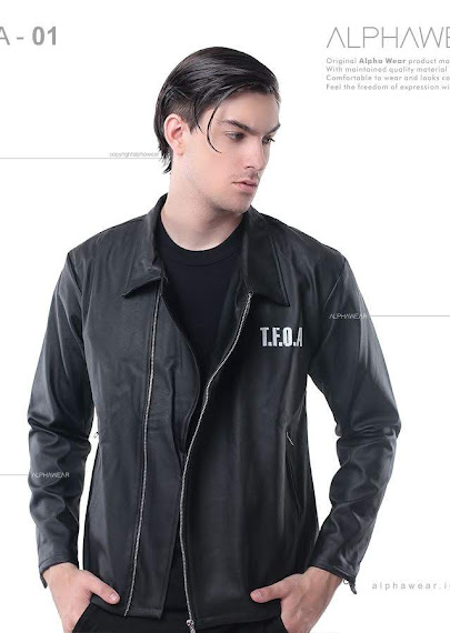 alphawear black street leather jacket