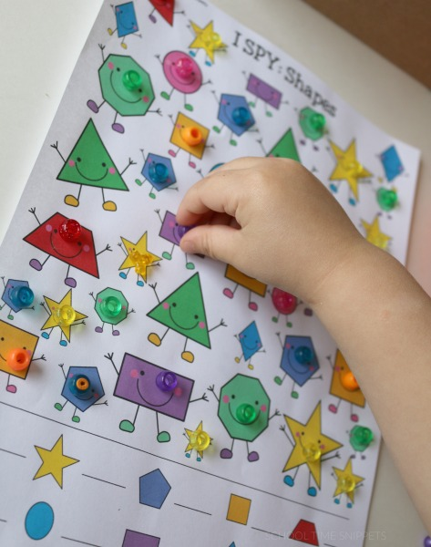 I spy shapes free printable