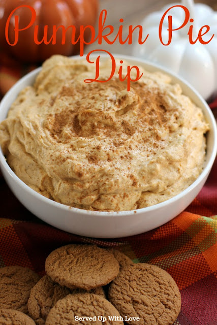Pumpkin Pie Dip recipe from Served Up With Love
