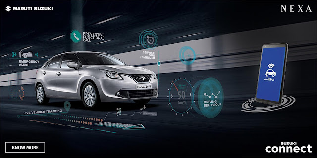 Suzuki Connect NEXA: Mobile Connecting & Tracking Cars on Roads for Safety and Peace of Mind