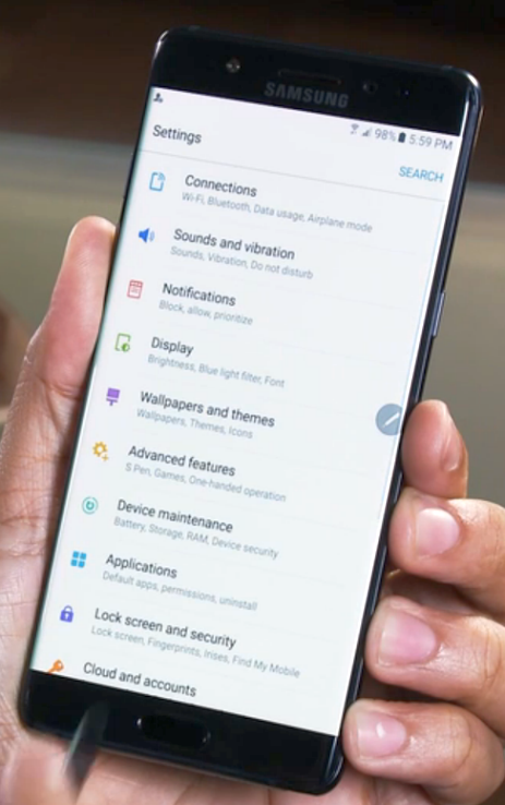 how to do a clean up on samsung note 5