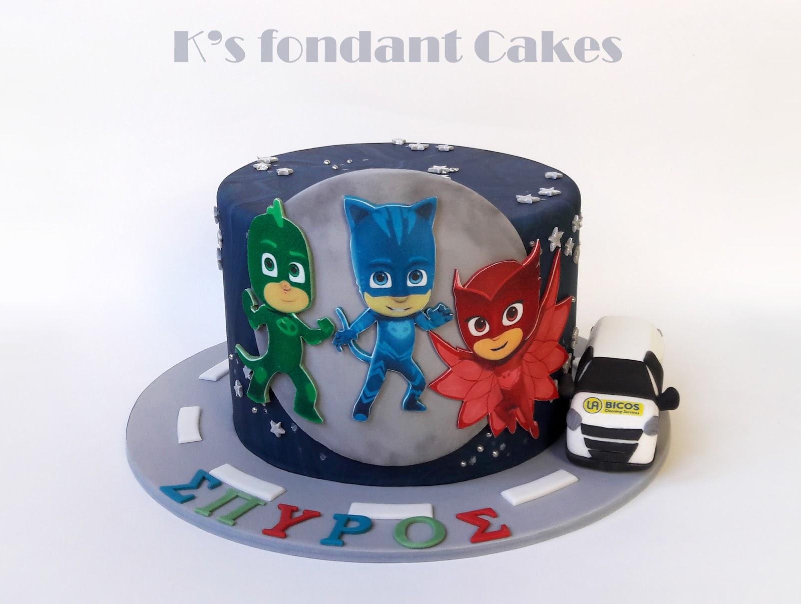 PJ masks cake - Ήρωες με Πυτζάμες  970a562af7f