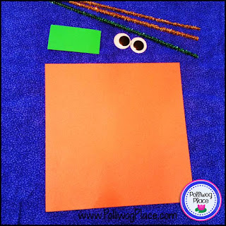 Square Pumpkin Craft Activity