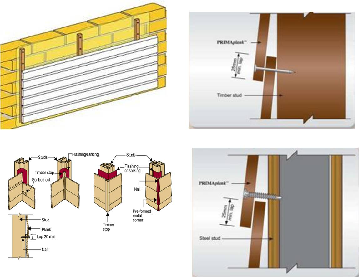 231BEG1/Cladding system: Traditional Cladding Material : Timber