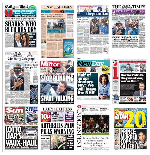 front pages 26-04-16