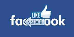 Tombol Like & Share Facebook