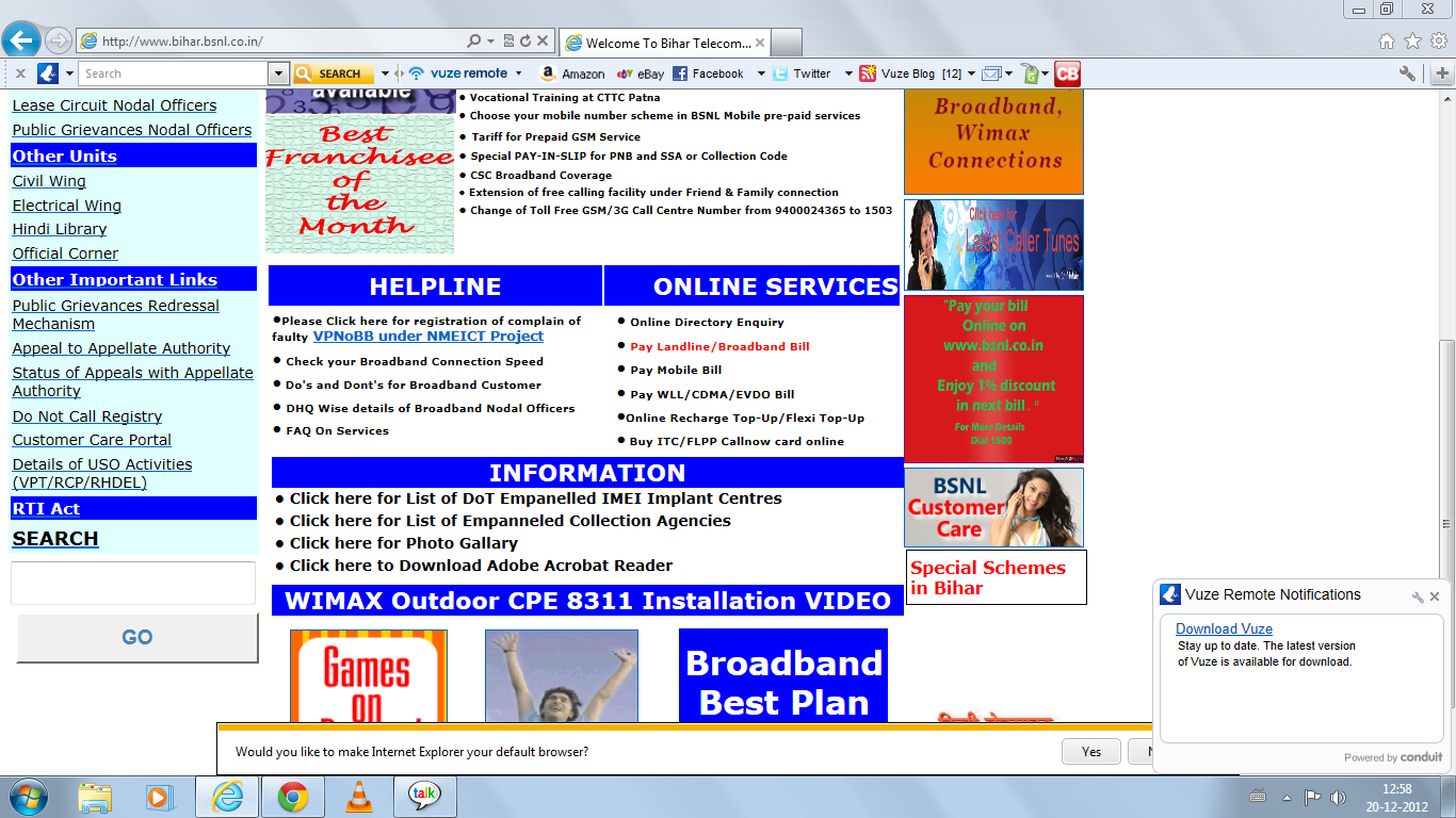consumer satisfaction on bsnl broad band Consumer complaints and reviews about bsnl broadband internet services  alex j victor have a phone connection with bsnl my consumer no is 47794220 and my phone no is 25723794 i am having a plan of 900plus  overall satisfaction rating 271 reviews harish chandra mathur lane, janpath new delhi india - 110001.