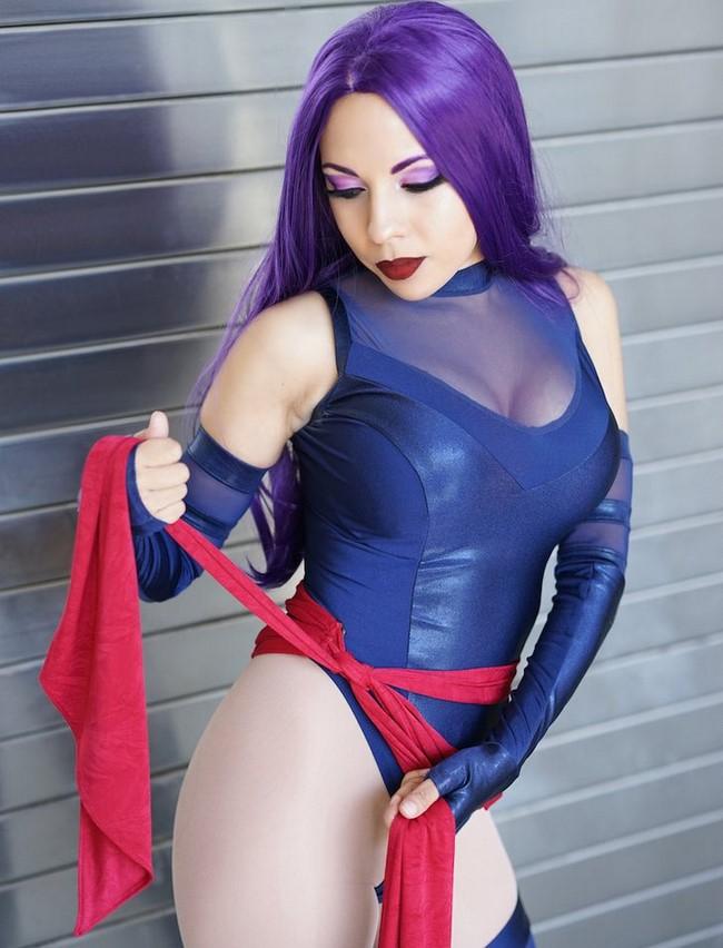 As mais bonitas modelos nerds como cosplays da Psylocke