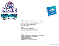 Sheet Shows Future MLP The Movie GoH Sets (Unconfirmed)