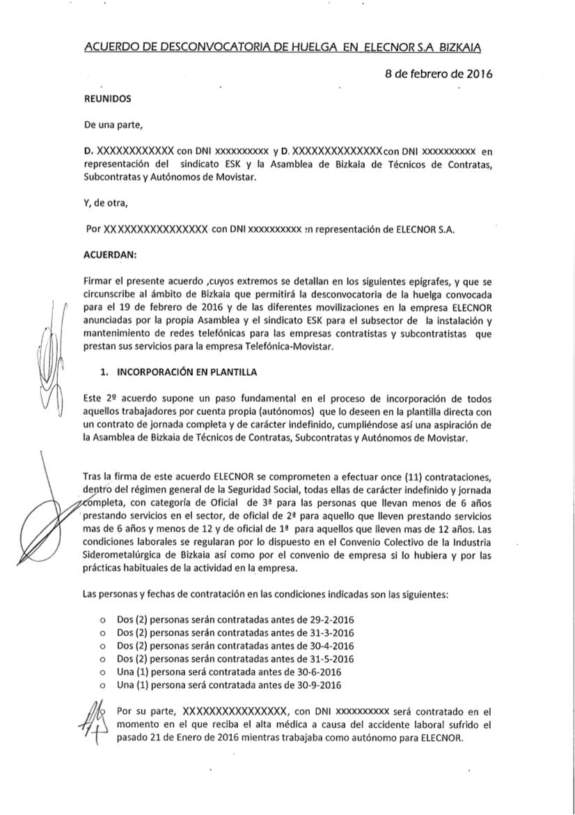 febrero 2016 | Contratas, Subcontratas y Autonom@s de Telefónica ...