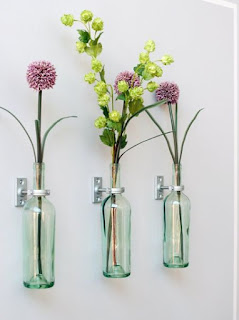 Make Wall Mounted Vases Out Of Wine Bottles