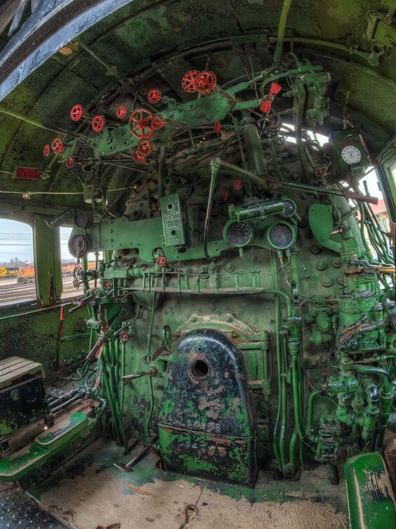 Old train engine room