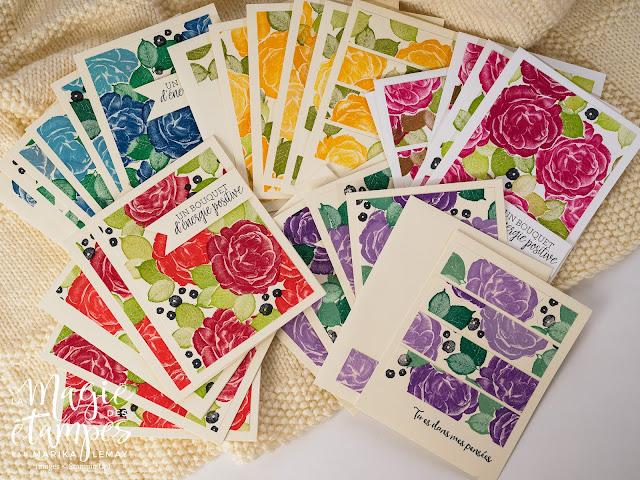 Cartes de voeux Stampin' Up! avec le jeu d'étampes Expression printanière