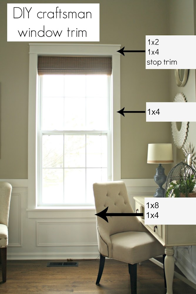 DIY craftsman trim