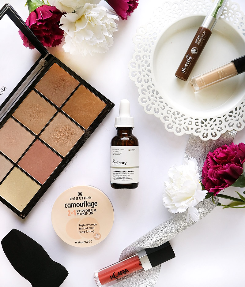Ebelin Makeup Blender, Alverde Eyebrow Gel, The Ordinary Caffeine Solution 5% + EGCG review
