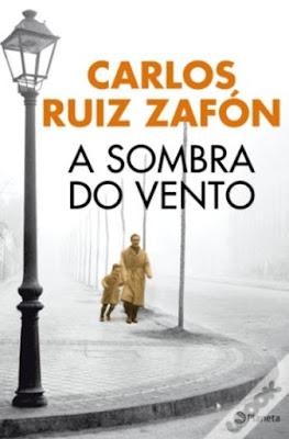 capa do livro A sombra do vento de Carlos Ruiz Zafón