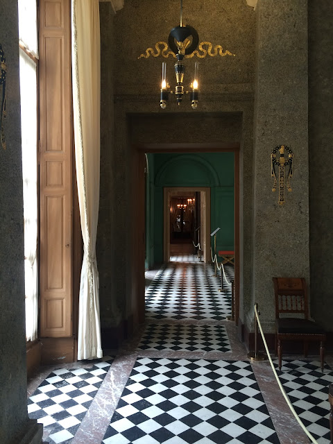 Hallway in the Château de Malmaison, France