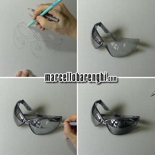 04ebfdcc42b7 My customized sunglasses - drawing - Marcello Barenghi