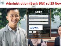 Staf Admin (Bank BNI Pendaftaran Online) sd 25 Nov 2017