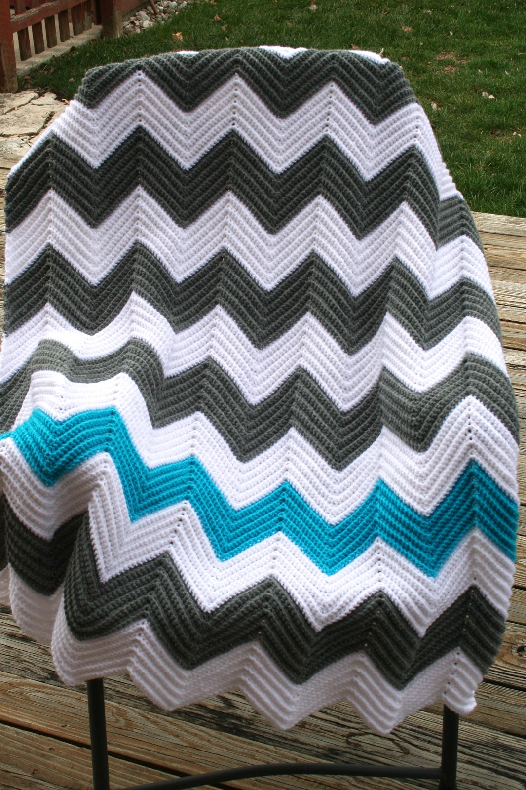 Pass the Cereal: Chevron Blanket