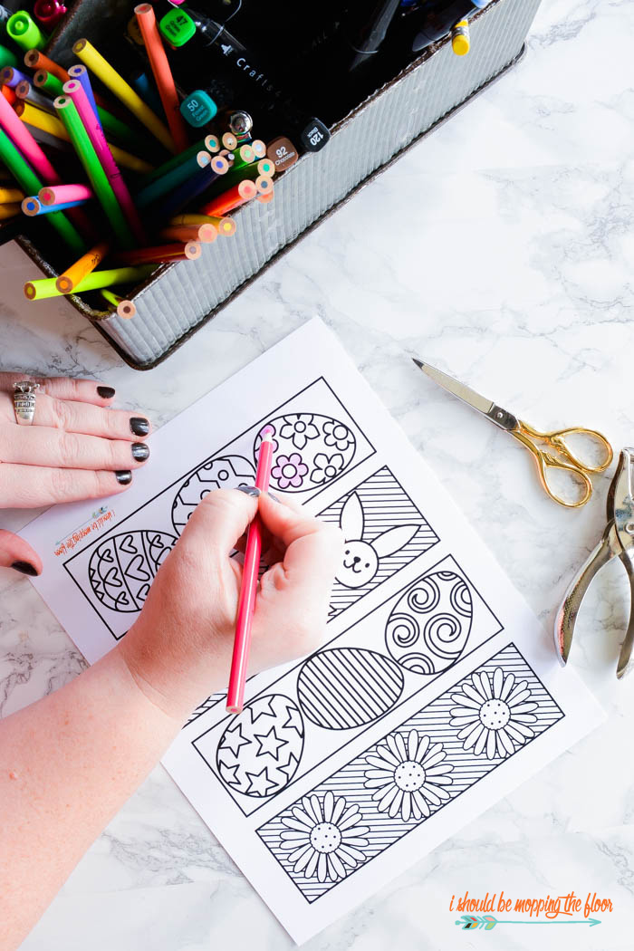 Free Printable Easter Coloring Bookmarks I Should Be Mopping The