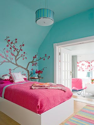 Ideas For Bedrooms Pink And Turquoise Girl S Bedroom