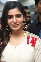 Samantha Ruth Prabhu Smiling Beauty in White Dress Launches VCare Clinic 15 June 2017 043.JPG