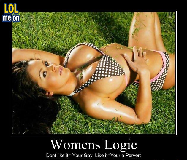 """funny women's logic picture from """"LOL me on"""""""