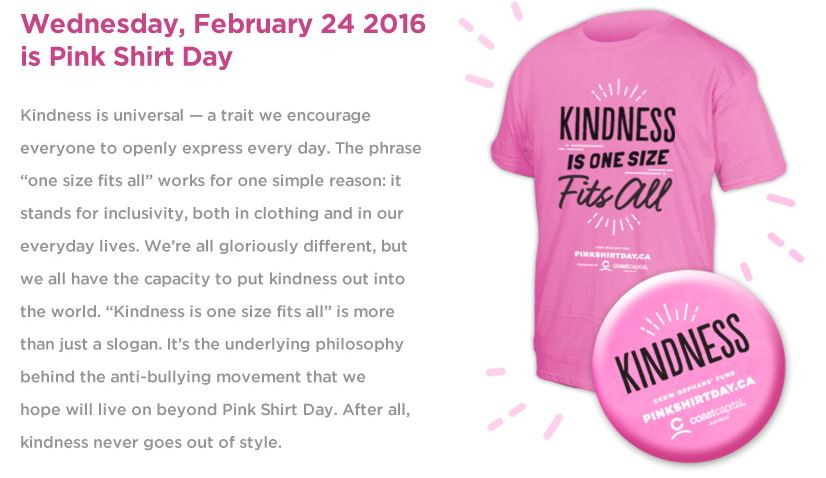 International Pink Shirt Day 2016 | Is Shirt