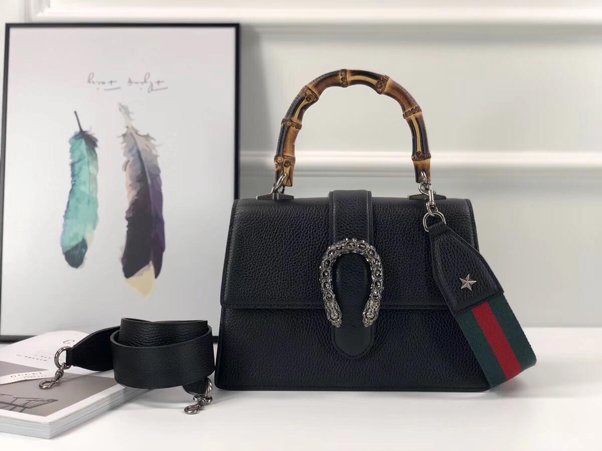 5d91939124c Gucci Dionysus medium top handle bag black 448075
