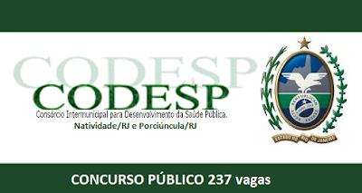 Apostila CODESP-RJ Consórcio de Saúde Pública do RJ 2016.