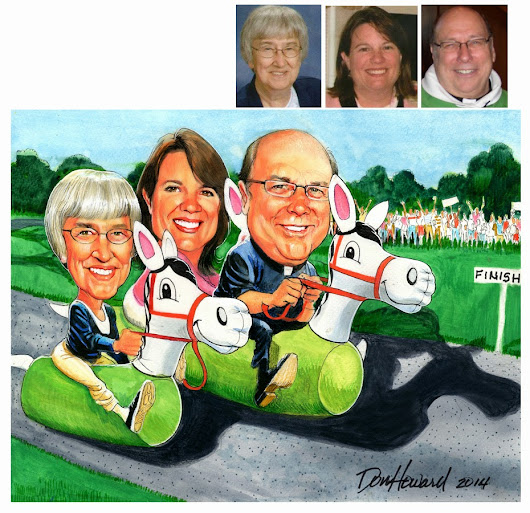 Don Howard Custom Caricature - 16x20-in with three subjects