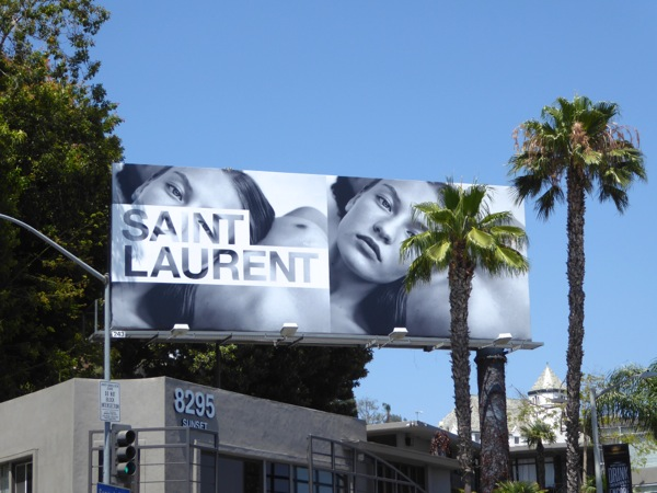Saint Laurent Summer 2016 fashion billboard