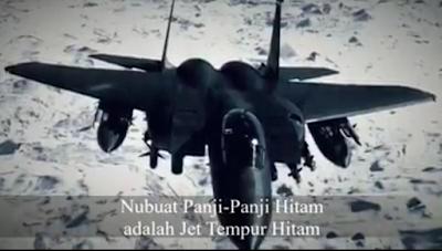 Panji-Panji Hitam Bukan Bendera Melainkan Jet Tempur Canggih!