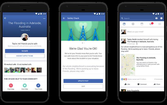 فيس بوك يضيف لميزة فحص السلامة جمع الاموال لأسباب خيرية وشخصية بعد الازمة