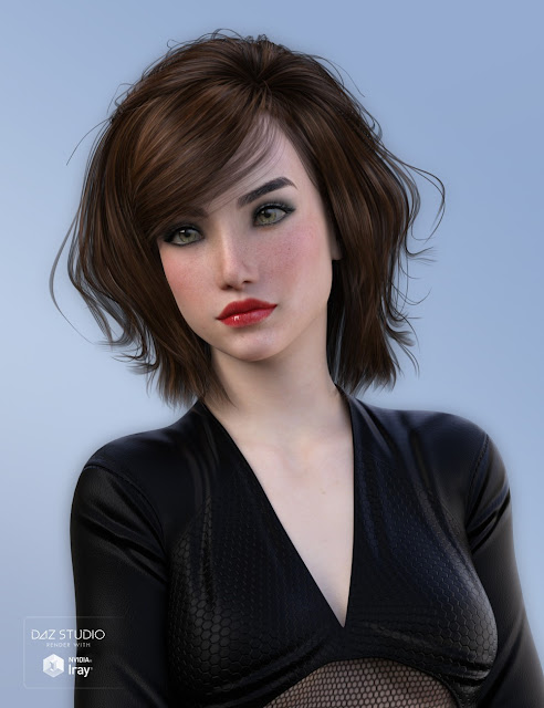Leora Hair for Genesis 3 Female