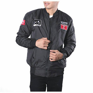 JAKET BOMBER PRIA THE BOJIEL ORIGINAL BLACK