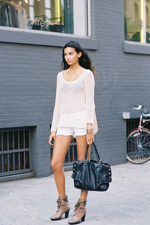 Swedish model Kelly Gale, after A Show, NYC, September 2012.