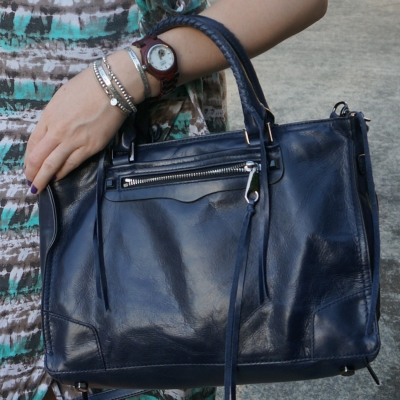 JORD watch, rebecca Minkoff navy moon regan satchel bag | awayfromtheblue